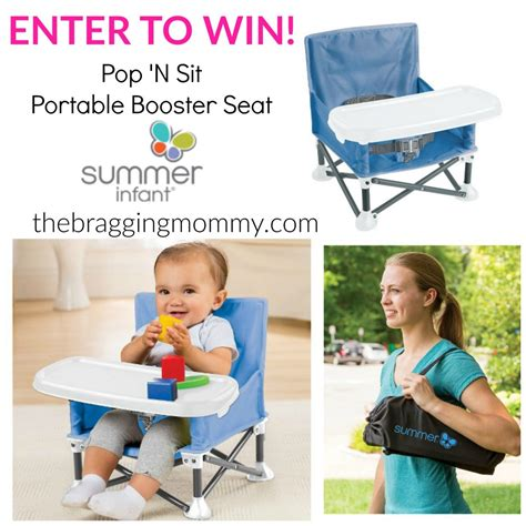Summer Infant 13543 Pop N Sit Booster Pink 012914135433 portable baby products summer infant pop n jump review pop n sit booster seat giveaway