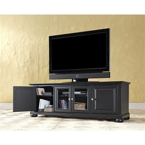 Cabinet For 60 Inch Tv by Alexandria 60 Inch Low Profile Tv Stand In Black Finish
