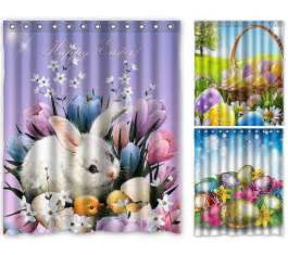 Shower Curtain Bathroom Sets Shower Curtains For Easter Decor Eggciting Easter