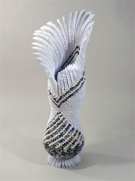 Origami Paper Sculpture - sea flower goldengami s weblog