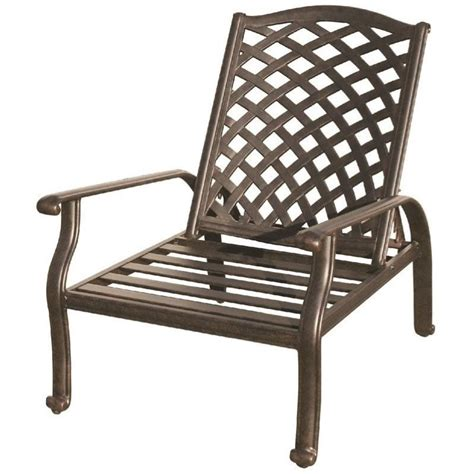 Adjustable Patio Chairs Darlee Nassau Adjustable Patio Club Chair In Antique Bronze Dl606 1 101