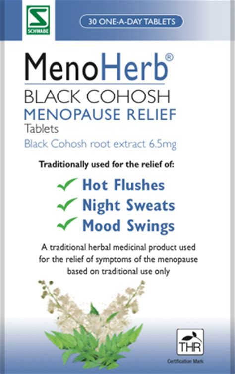 mood swings menopause treatment black cohosh menoherb tablets menopause relief from