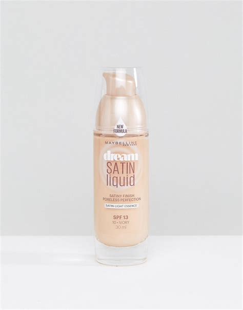 Maybelline Satin Foundation maybelline maybelline satin liquid foundation at asos