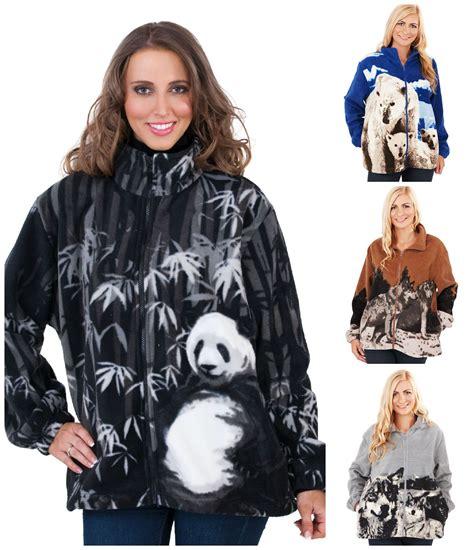 Jaket Fleece Jaket Dc Fleece Jaket Swf Swf 95 Merah Cewe womens animal design zip fleece jacket polar wolf panda husky print ebay