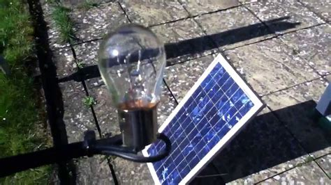 solar panel to power lights 20w solar panel 21w bulb a match part 1
