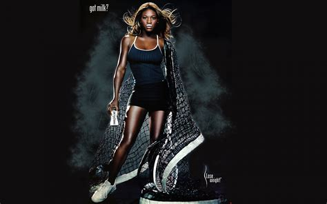 wallpaper zoom girl serena williams sexy in milk promo photo shoot pictorial