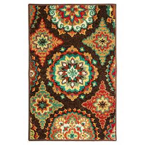 view shaw 174 living 23 quot x 35 quot brown suzani accent rug deals