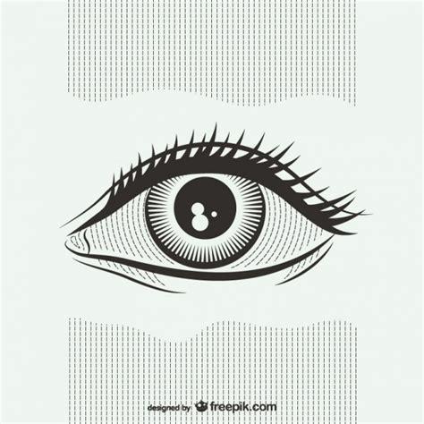 imagenes en blanco y negro de ojos ilustraci 243 n blanco y negro de ojos descargar vectores gratis