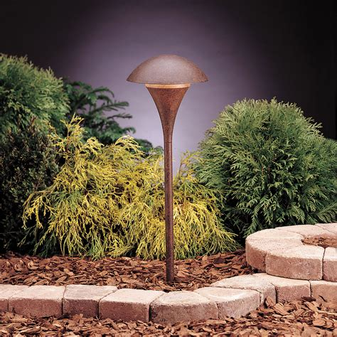 Line Voltage Landscape Lighting Textured Tannery Bronze Line Voltage One Light Landscape Path Light Kichler Path