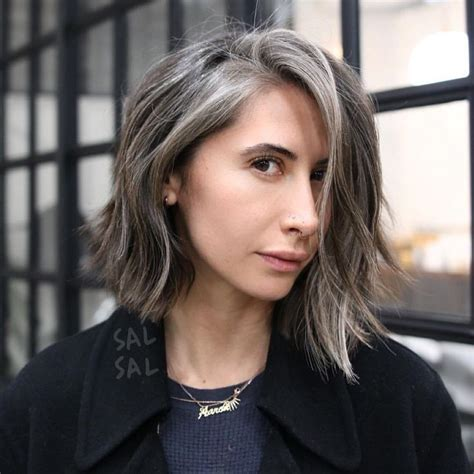 young women with grey hair see this instagram photo by sal sal 764 likes grey