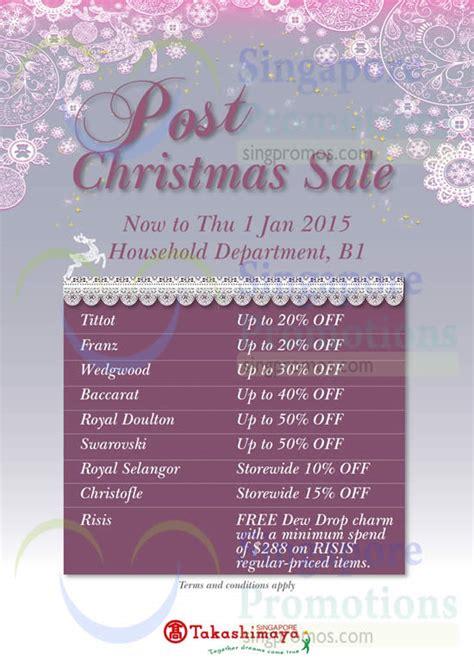 takashimaya post new year sale takashimaya household post sale 26 dec 2014 1