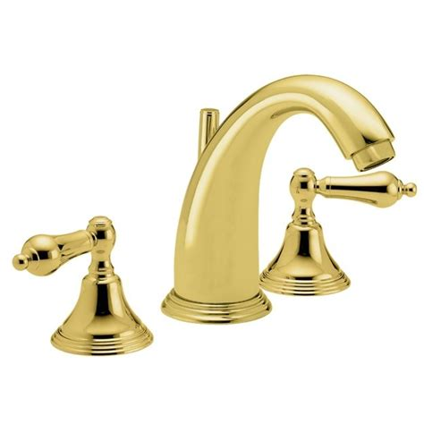 polished gold bathroom faucets california faucets coronado widespread lavatory faucet