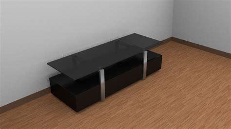 tv table 3d model game ready obj fbx blend dae