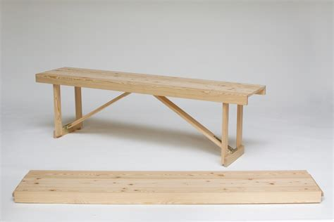 folding bench larch folding bench simon jones studio