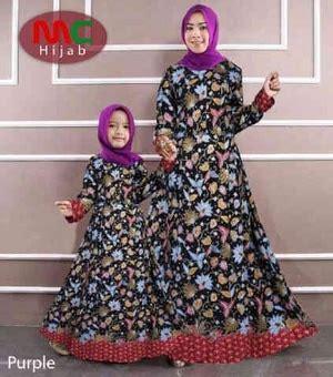 desain gamis batik ibu dan anak baju gamis couple ibu mama dan anak motif batik modern