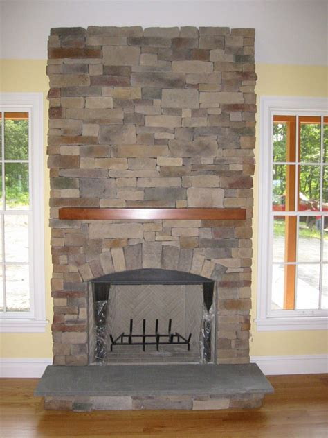 Stone Fireplace Pictures   Natural Stone, Manufactured Stone and Fieldstone