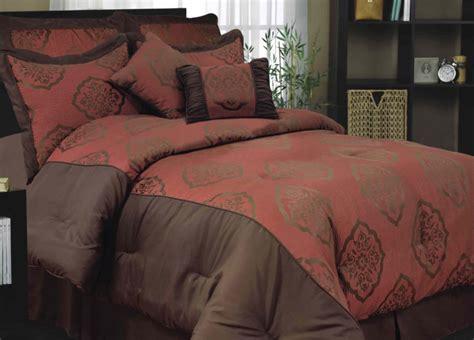 rust comforter set 7 pce rust brown comforter set queen king ebay