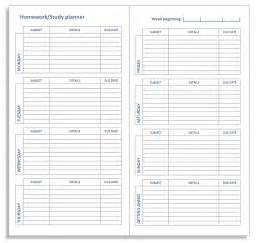 free student planner template my all in one place a midori homework or study