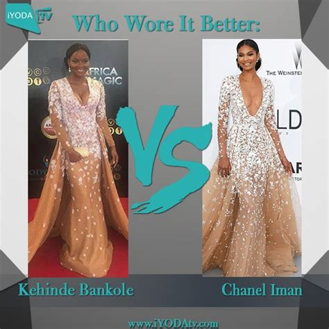 Who Wore Chanel Better by Kehinde Bankole Vs Chanel Iman Who Wore It Better