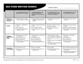 bio poem rubric for teachers