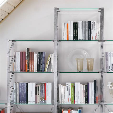 librerie in acciaio teodor libreria per mansarda in acciaio e vetro x 35 x
