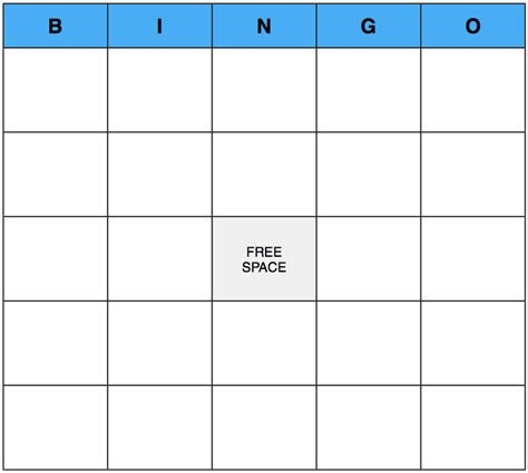 introduction bingo template images templates design ideas