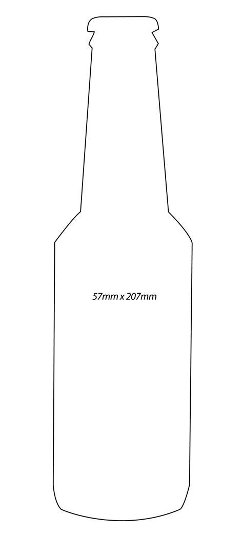 bottle outline template clipart best