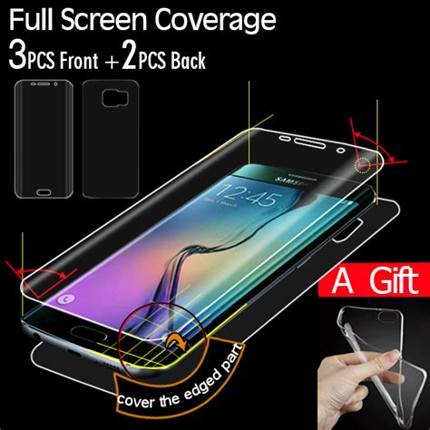Samsung S6 Edge Anti Anti Shock Fuze Tpu 21 aliexpress buy screen coverage protector for samsung galaxy s6 edge screen protector
