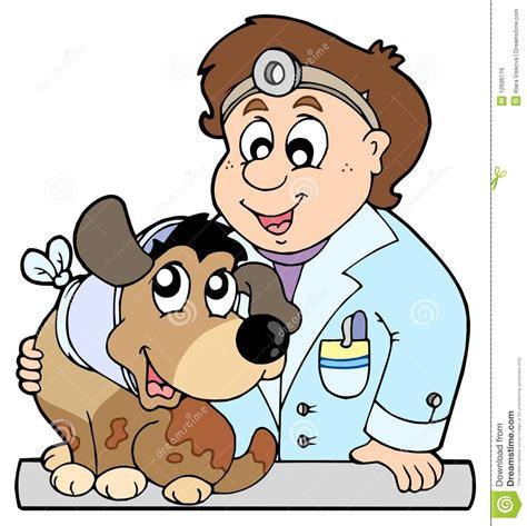 imagenes de otoño animado perro con el collar en el veterinario ilustraci 243 n del
