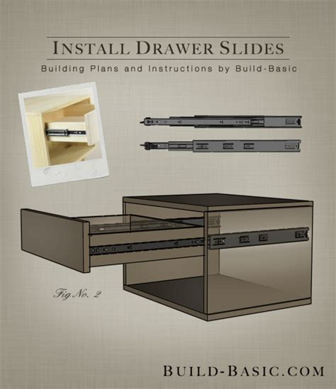 how to install kitchen cabinet drawer slides how to install drawer slides build basic