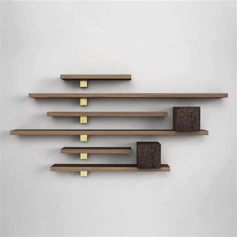 wall shelf designs original design wood wall shelf il pezzo 5 cabinets and