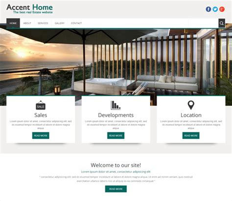 homes websites accent home a real estate mobile website template by w3layouts