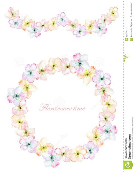 ghirlande fiori pagina il confine la ghirlanda e la corona dei fiori di