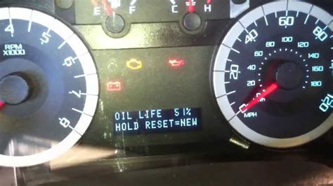 2009 ford fusion check engine light how to reset the oil life on a ford escape youtube