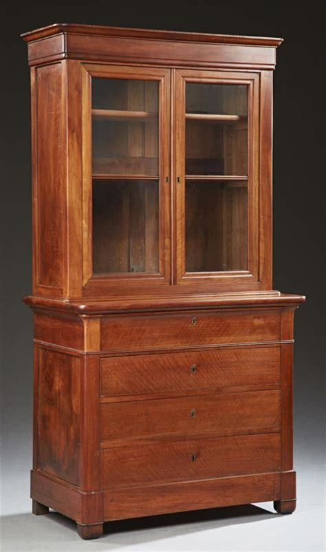 Cherry Corner Bookcase Louis Philippe Carved Cherry Bookcase 19th C The R