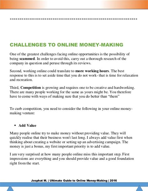 Online Money Making Guide - making money online ultimate guide 2016