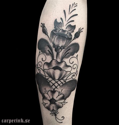 kurbits black and grey carper ink tattoo tatuerare