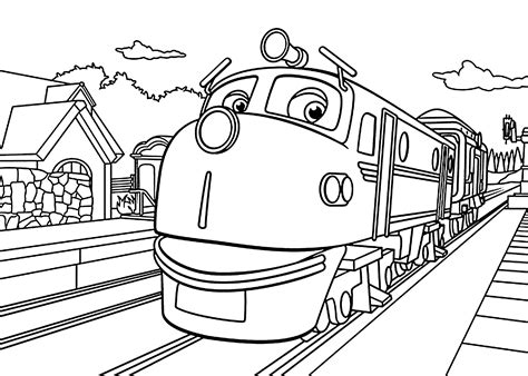 chuggington coloring pages chuggington coloring pages wilson in depot for