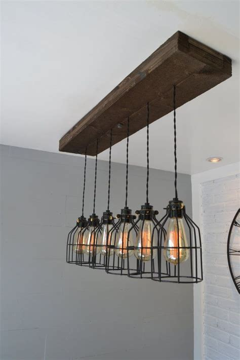 ceiling light industrial lighting pipe farmhouse jar w cage light industrial farm house light pendant lighting wood light kitchen light industrial chic chandelier