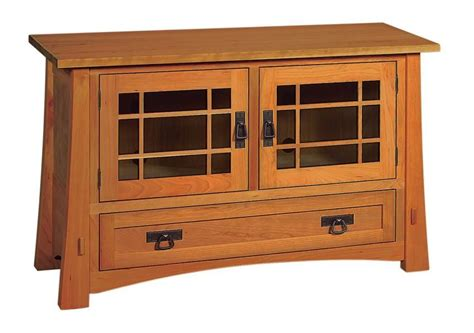 amish montana mission tv stand  drawer   doors