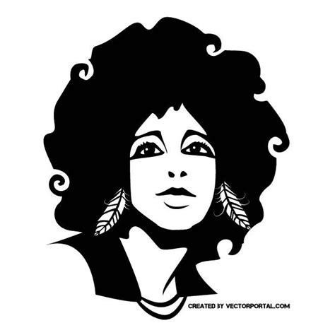 afro hairstyles vector afro girl vector portrait free vectors ui download