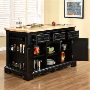 powell kitchen island powell pennfield kitchen island in black amp natural
