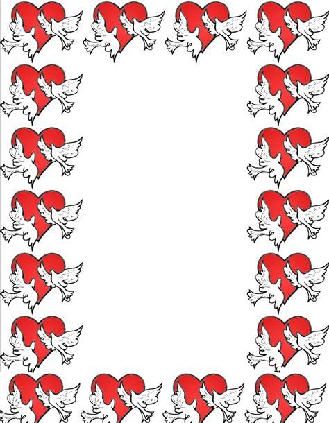 free printable valentine stationary borders free invitation borders