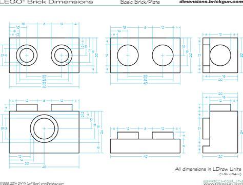dimensions of a brickgun lego 174 dimension guides