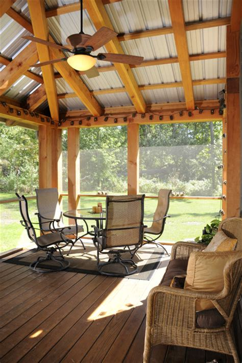 Patio Screen Frame by Timber Frame Screen Porch Traditional Patio Other