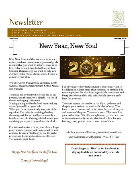 january newsletter 2014 happy new year low country