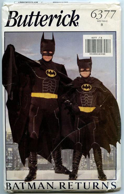 batman pattern stock butterick 6377 sewing pattern batman costume pattern