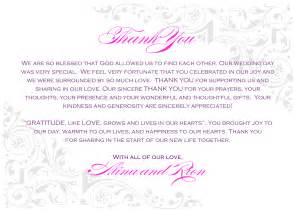 thank you notes for wedding gifts templates wedding thank you notes wording wedding wedding ideas