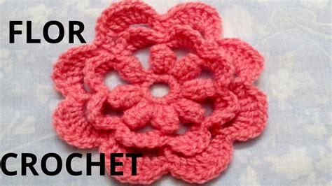 imagenes de flores tejidas a gancho flor n 176 15 en tejido crochet tutorial paso a paso youtube