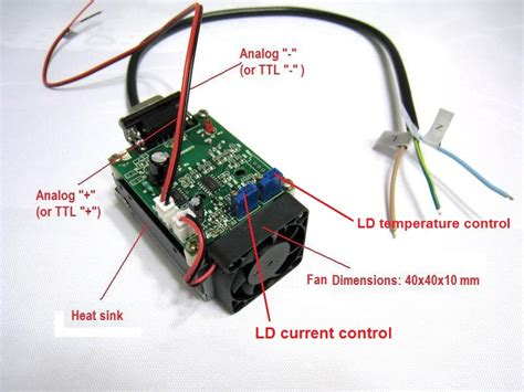 laser diode driver ttl schematic the driver supports ttl or analog modulation up to 20khz